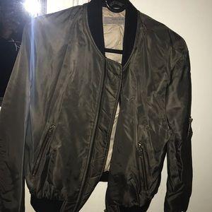 Zara green bomber jacket